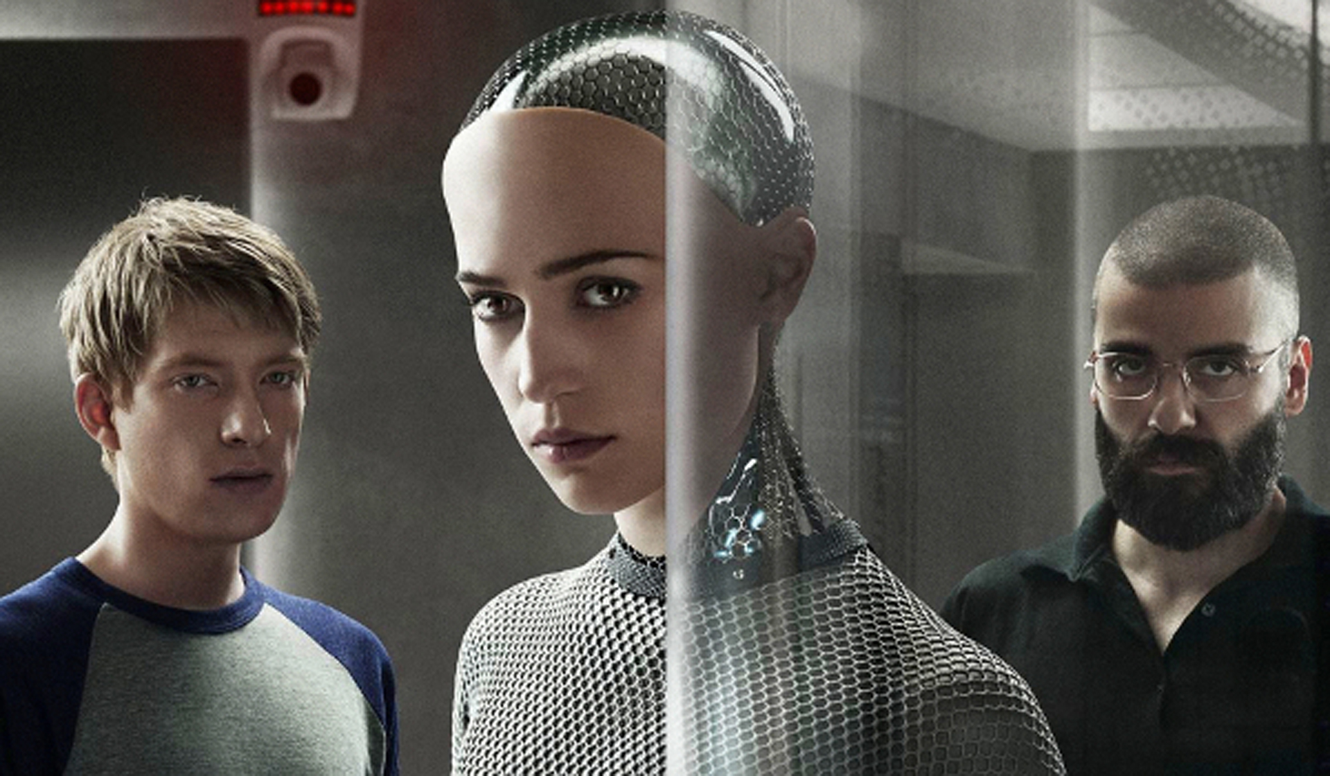 Domhnall Gleeson, Alicia Vikander and Oscar Isaac star in Ex Machina.