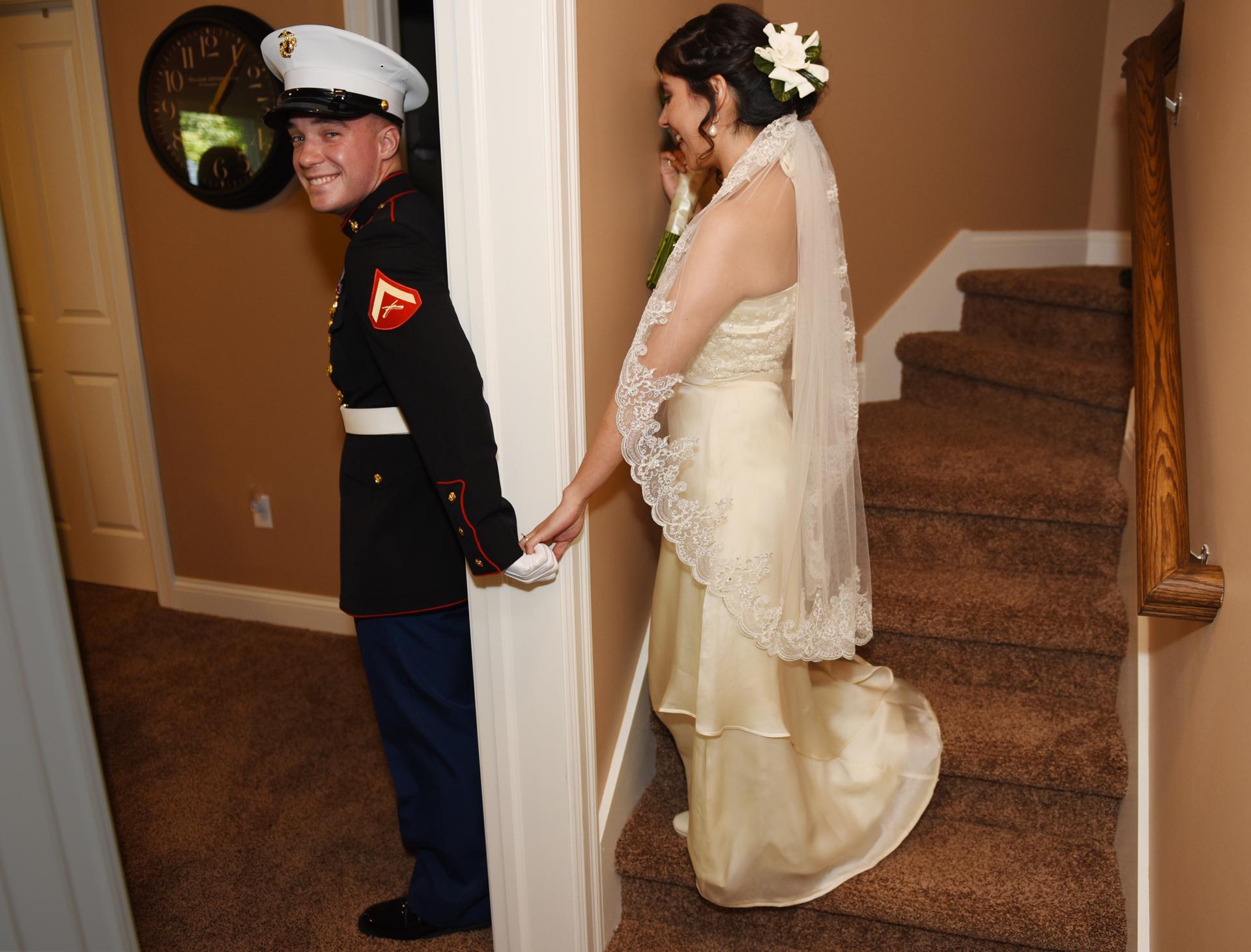 Ann Arbor Michigan wedding photography military dress