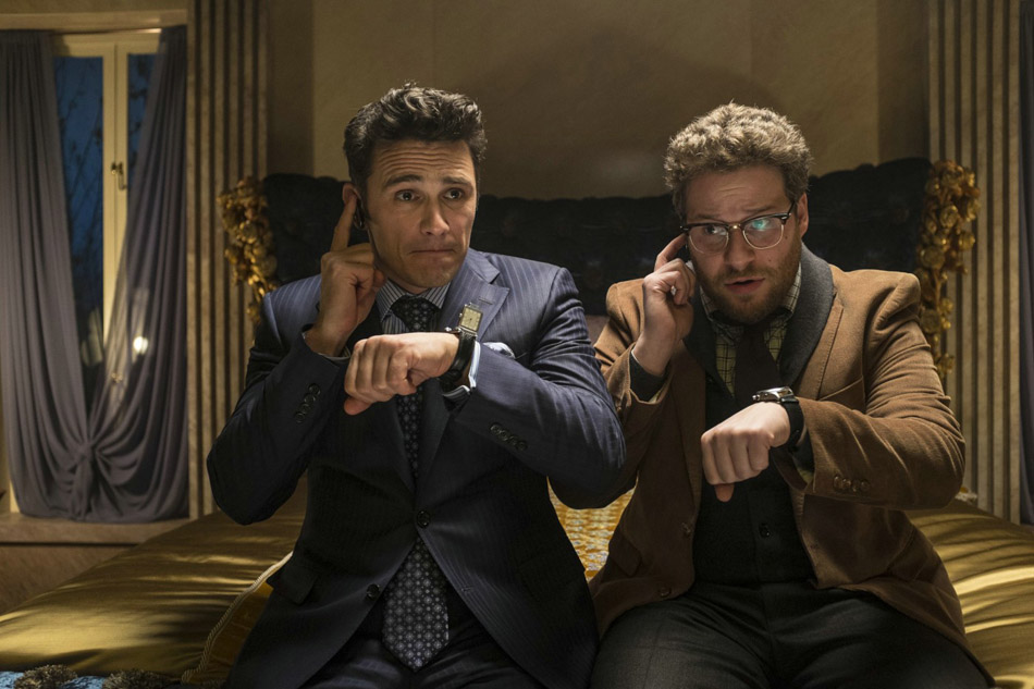 James Franco and Seth Rogen star in The Interview, from Sony Pictures.