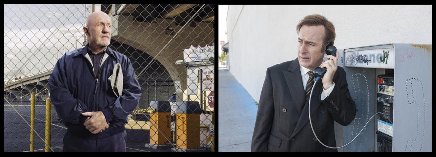 Jonathan Banks plays Mike Ehrmantraut to Bob Odenkirk's Jimmy McGill.