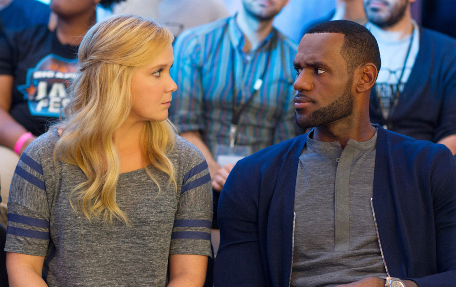 Amy Schumer and LeBron James star in Trainwreck.